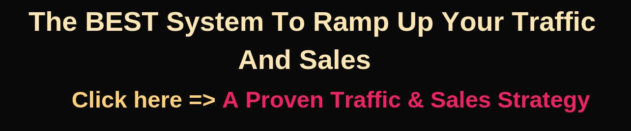 Traffic And Sales Strategy